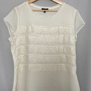 The Limited Creme Top with Ruffles